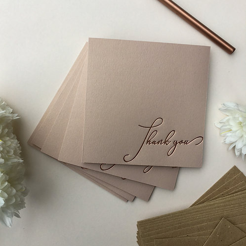 Elegant Rose Gold Thank You Cards