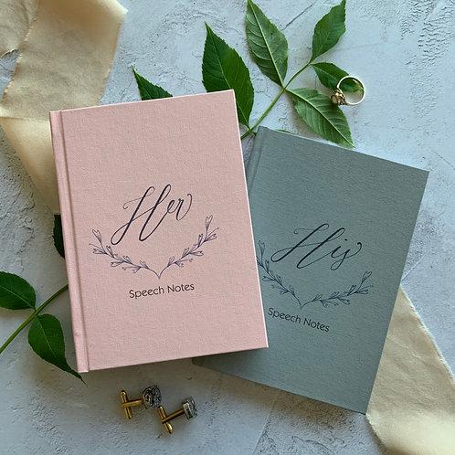 A6 His & Her Speech notebook