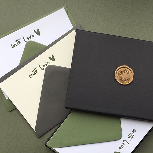 8 Letterpress  note cards with envelopes