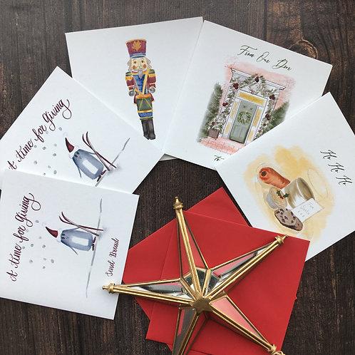 Assorted Christmas card bundle- 6