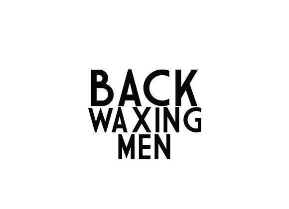 Back Waxing (Men)