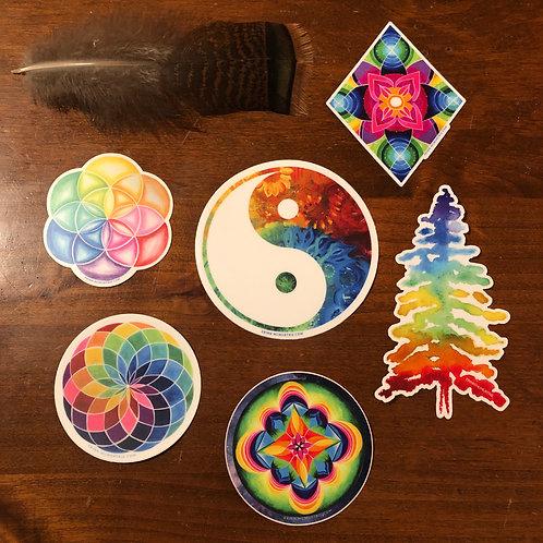 Rainbow Stickers set of 6