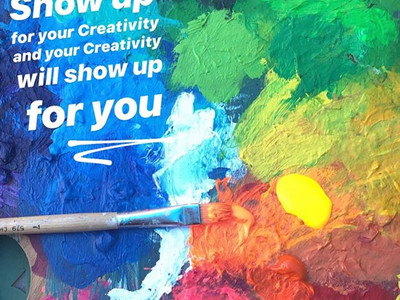 Show up for your creativity
