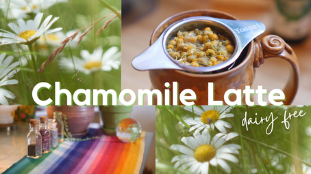 Chamomile Tea Herbal Latte - dairy + caffeine free