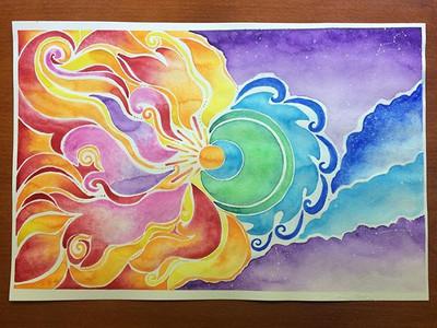 Elemental watercolor