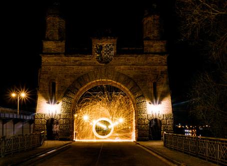 Lightpainting Alte Süderelbbrücke (1)