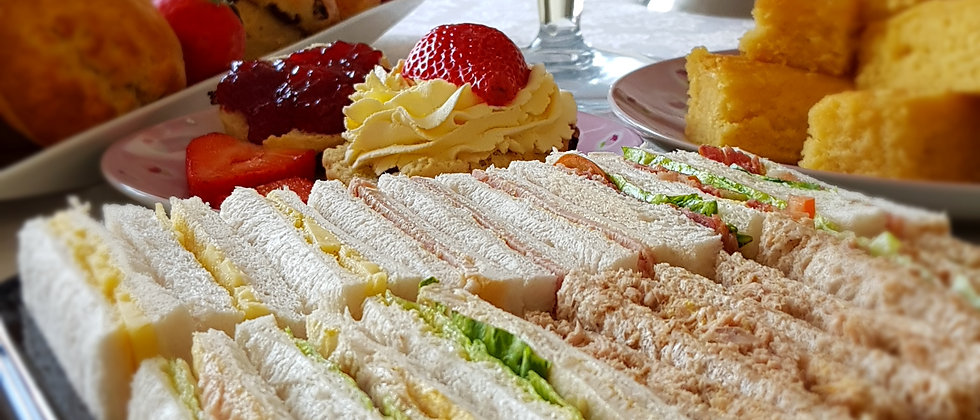 Afternoon Tea  Cakes, Scones & Sandwiches for 6 Persons