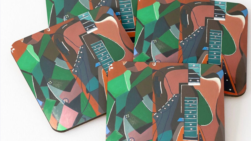 Guitarist Coasters (set of 4)