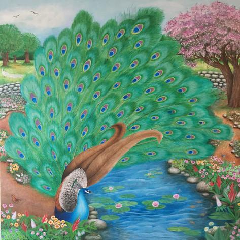 """Love and Peacock""- Mariluz Zapata"