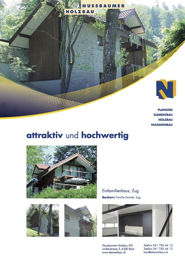 Einfamilienhaus, Dornier, Zug
