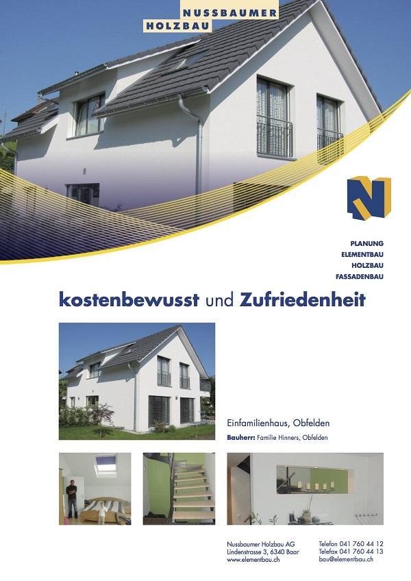 Einfamilienhaus, Hinners, Obfelden