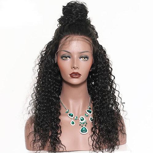 Transparent/Medium Brown Lace 13×6 Lace Front Wig Deep Wave
