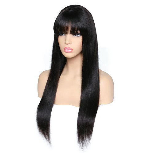 360 Lace Front Wig Straight with Bang