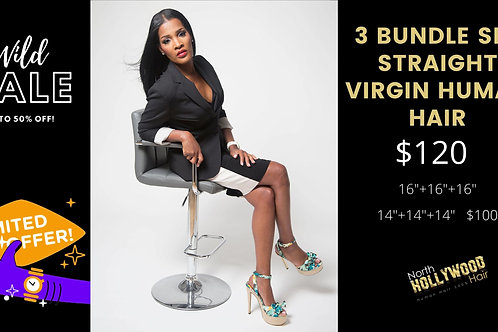 3 Bundle Set Straight 100% Human Hair