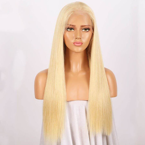 #613 Blonde Color Full Lace Wig Silky Straight