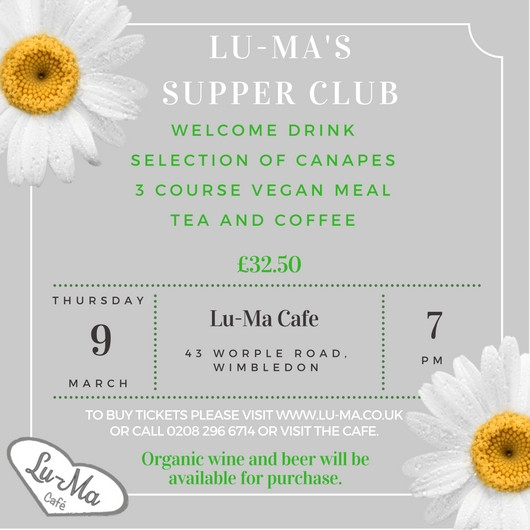 First Supper Club of the Year!!