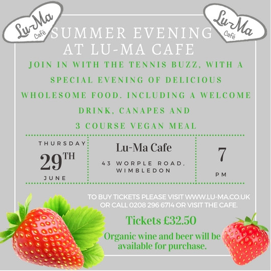 Please join us for our next foodie evening!