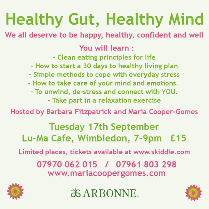 New workshop! Healthy Gut, Healthy Mind.
