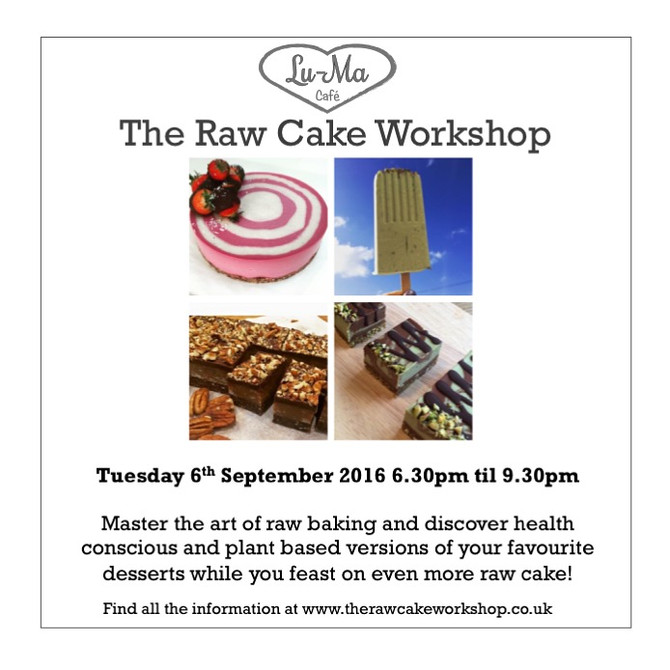 We are very excited to be holding our first ever Raw Cake Workshop!
