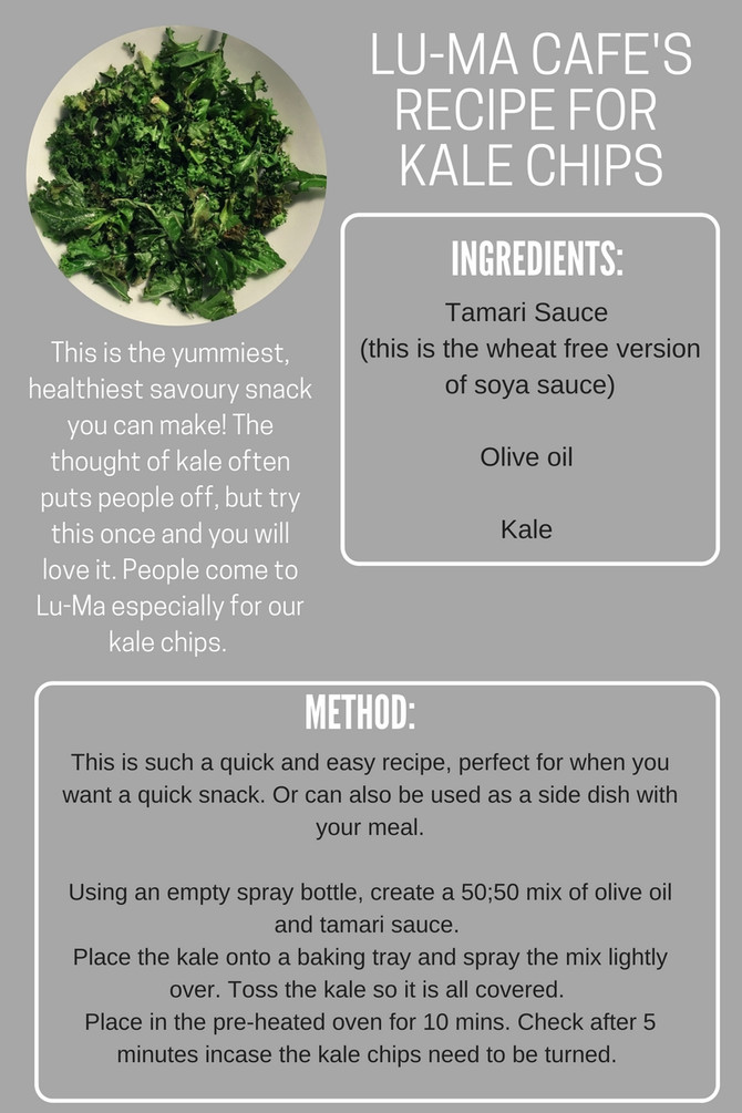 Try our delicious Kale Chips at home!