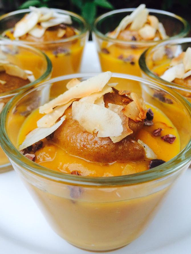 Pumpkin Mousse with Date Caramel