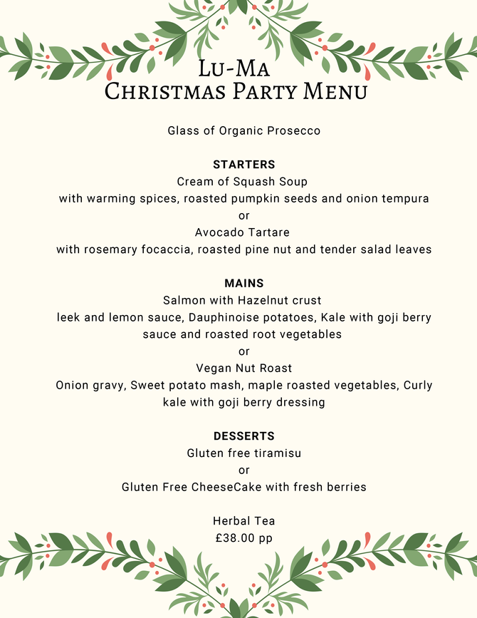 Now taking Christmas Party bookings!