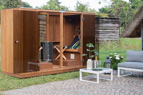 Outdoor electric sauna 'Löyly'