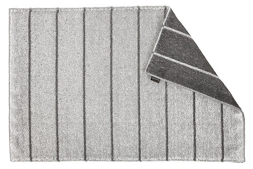 Liituraita saunamat, wit/donkergrijs, omkeerbaar