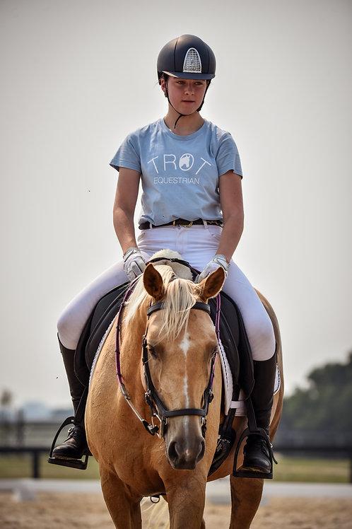Sky Blue Trot Equestrian Logo T-Shirt