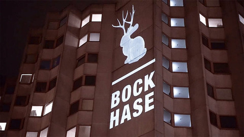 Urbane Projektion   Bock Hase