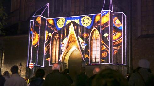 Projektion   Ägidienkirche