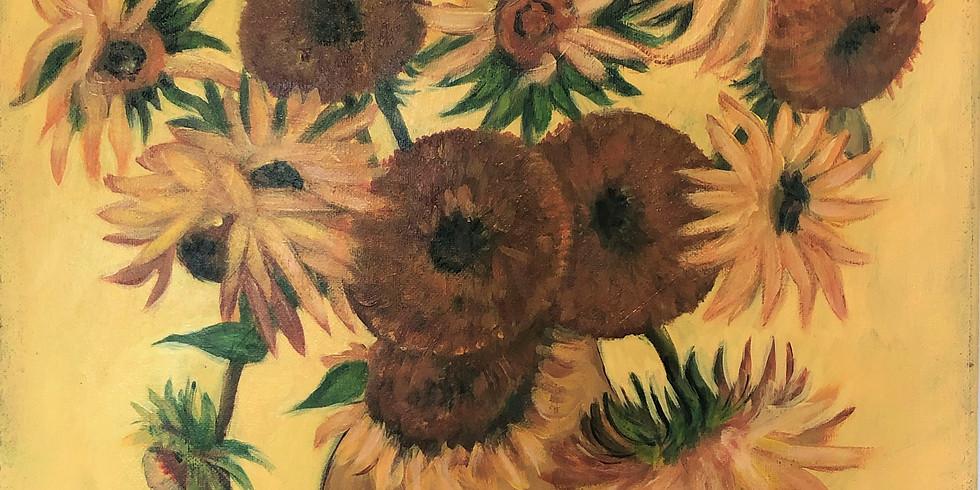 Paint it like Van Gogh - Sunflowers