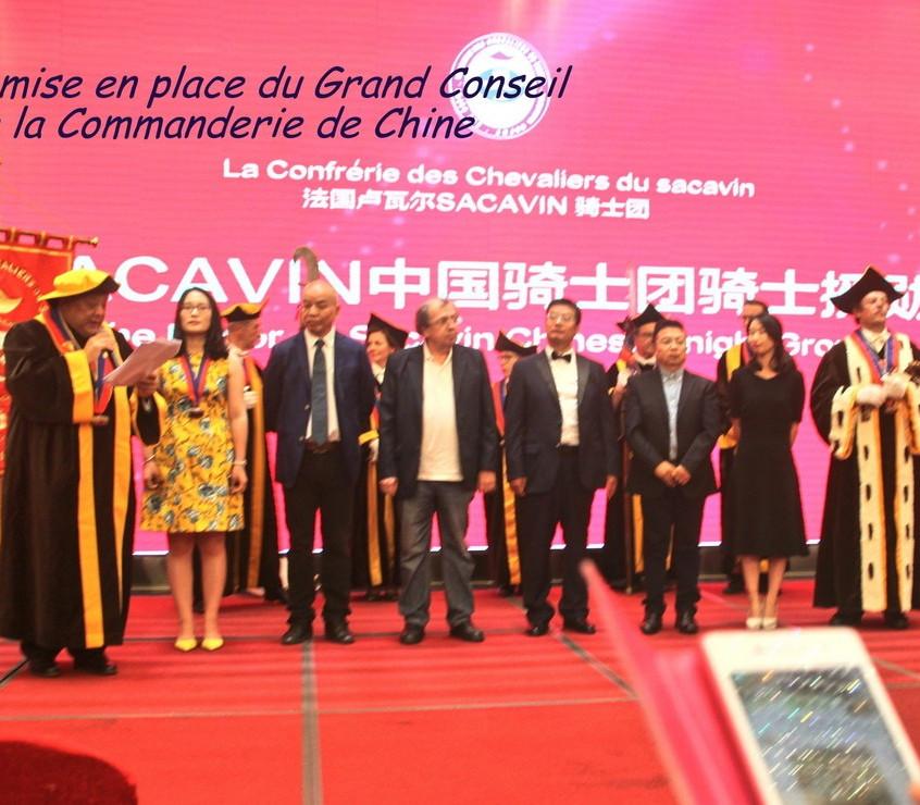 Création Commanderie du Sacavin de Chine