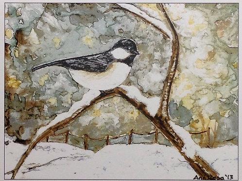 Chickadee Winter Scene