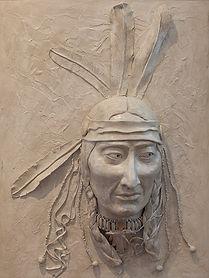 01 Framed Spirit Warrior Indian Head Scu