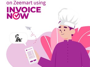 Send and receive e-invoices using InvoiceNow on Zeemart!