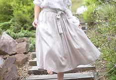 Whimsy Linen Skirt Gypsy Linen top Austr