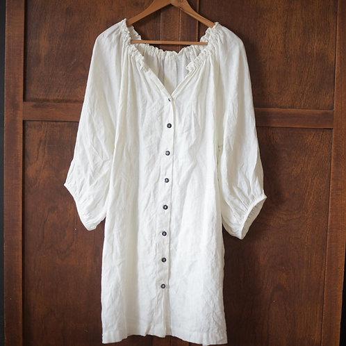 Clementina - Button Up - linen dress