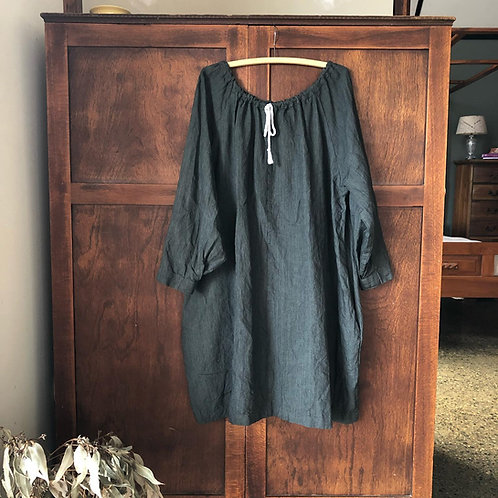 Clementina - Linen Gypsy dress - Knee length