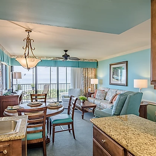 blue beachy hotel room interior designer