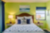 Plantation Beach Club green coastal bedroom decor