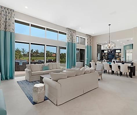 Coastal-chic living room