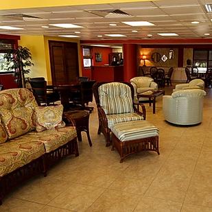 warm lobby interior