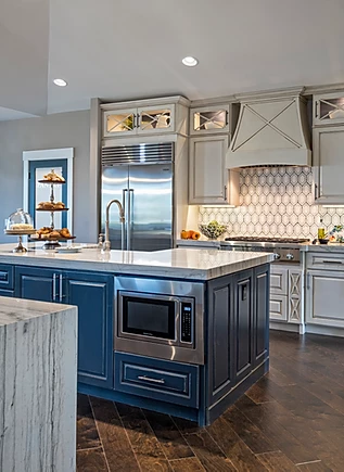 white and blue coastal kitchen.webp