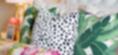 custom tropical pillow fabrics