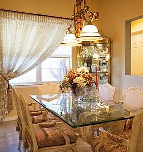 elegant yellow dining room