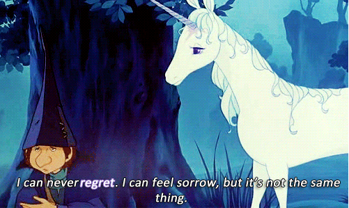 The Last Unicorn is not supposed to feel regret.