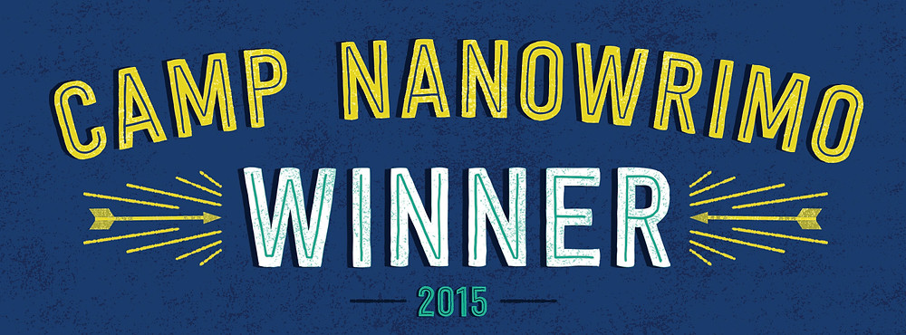 Official Camp NaNoWriMo banner for hitting my goal!