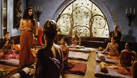 Inara instructing a group of Companion trainees