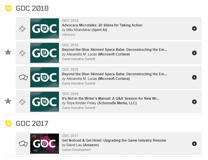 Check out all of my GDC talks here